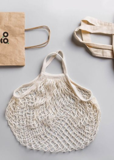 paper, cotton, mesh and jute bags showing eco friendly and zero waste packaging alternatives