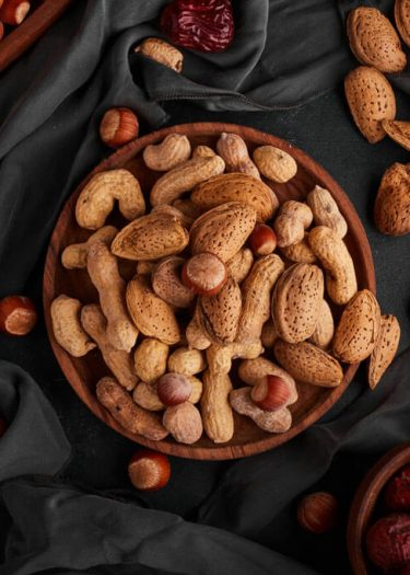 Nuts and almonds picture for high protein Indian food cover